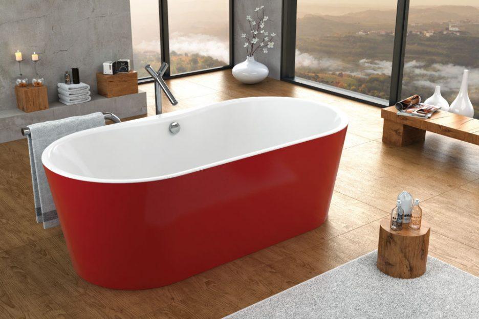 KADA COMODO-FS 185X90/O WHITE RED 538100