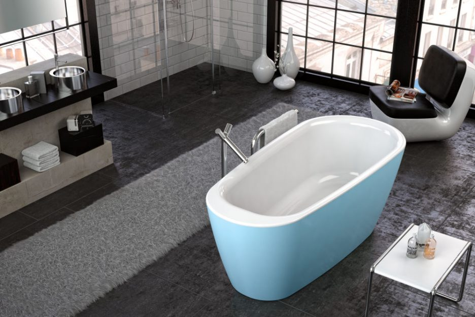 KADA ADONIS-FS 180X80/O WHITE BLUE 596340