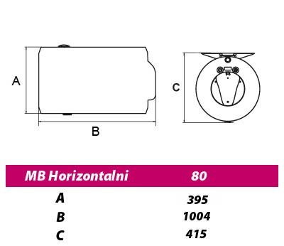 METALAC BOJLER 80L MB EMAJL HORIZON