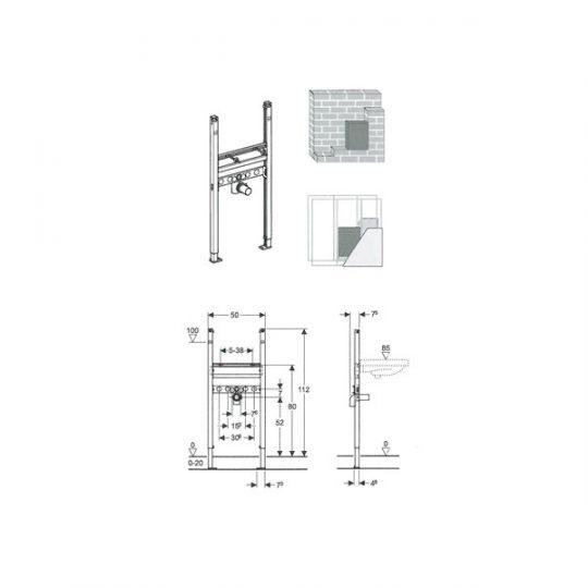 UGRADNA KONZOLA DUOFIX BASIC ZA LVB 111.471.00.1