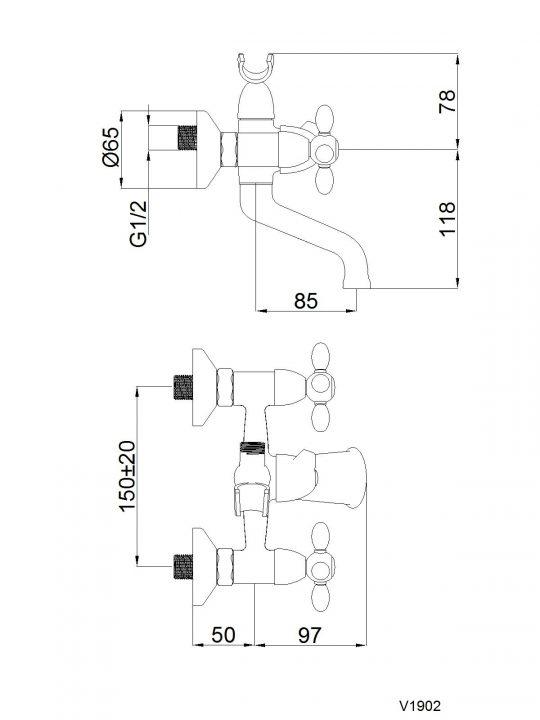 CROSS V-1 BAT.ZA KADU(BR) V10L96