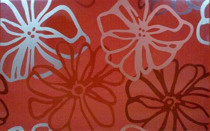 Dekor fresh rojo cvet 25x40