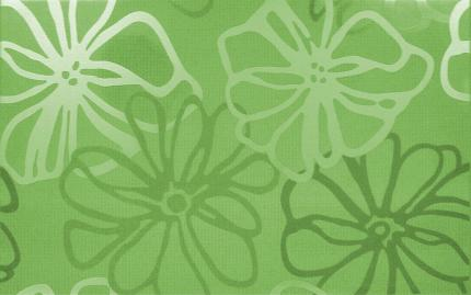 Dekor fresh verde cvet 25x40