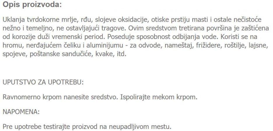 POLIR CELIK/HROM/ALUMINIJUM 203
