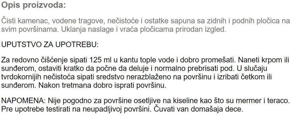 CISTAC ZA ZIDNE I PODNE PLOCICE 936