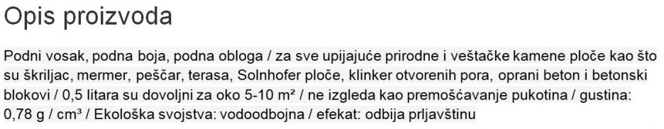 ZASTITA KAMENIH POVRSINA 189