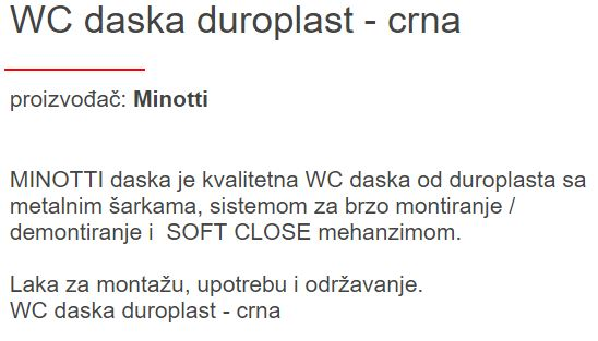 WC DASKA MINOTTI SLOW-CLOSE CRNA