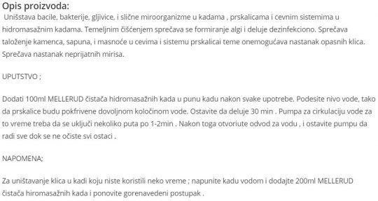 CISTAC HIDROMASAZNIH KADA 015 039A
