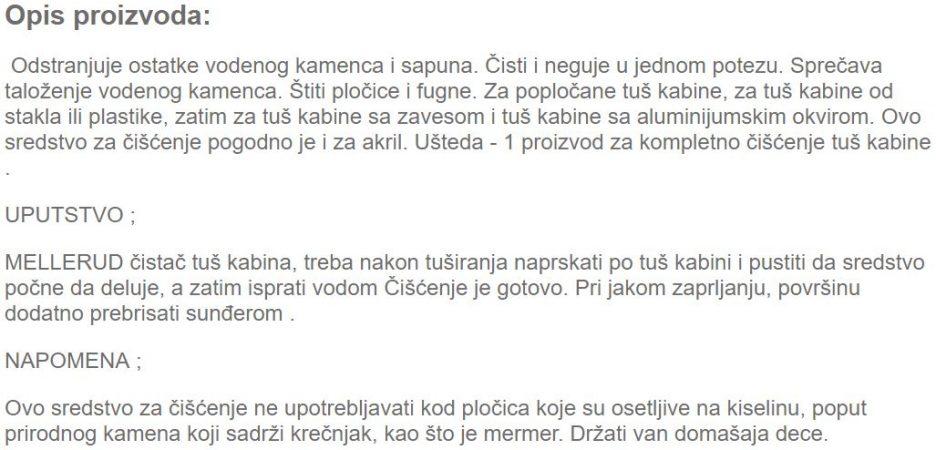 CISTAC TUS KABINA 0.5L 851