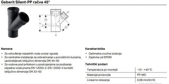 PP SILENT KOSA RACVA 110/50 GEB
