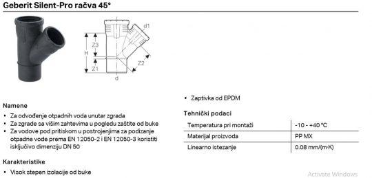 PP SILENT PRO KOSA RACVA FI 110/50 GEB
