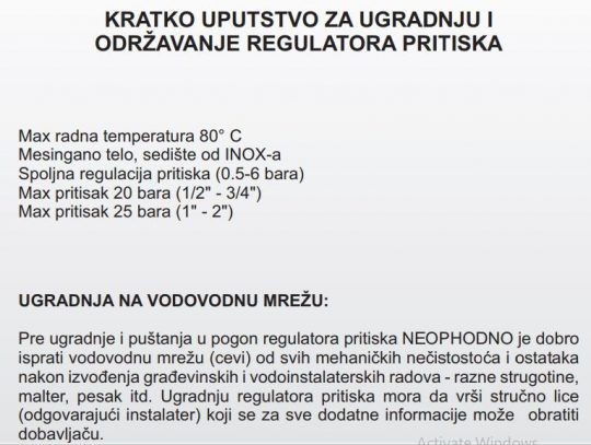 REGULATOR PRITISKA 2