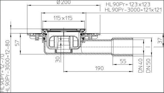 SLIVNIK FI 40/50 HORINZ. HL90PR