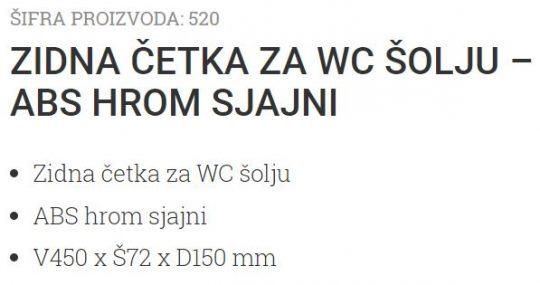 ZIDNA WC CETKA ABS HROM 520