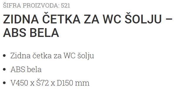 ZIDNA WC CETKA ABS BELA 521