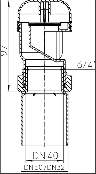 VENTILACIONA GLAVA PPDN50/40/32 HL904