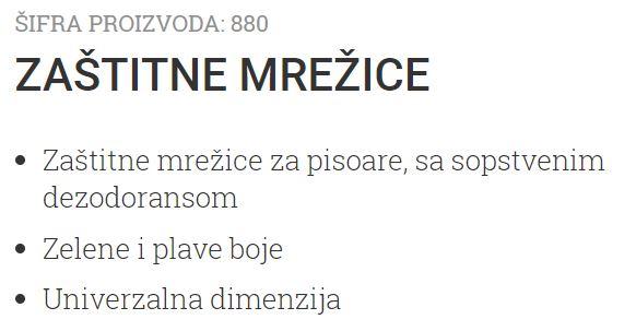 MREZICE ZA PISOAR 884