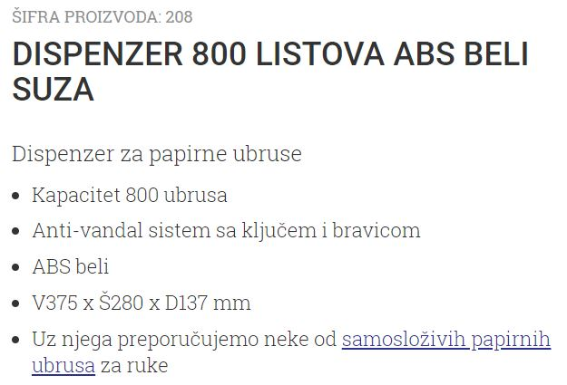 DISPANZER 800 ABS BELI SUZA ANTIVANDAL