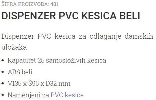 DISPANZER KESICA ZA DAMSKE ULOSKE 487