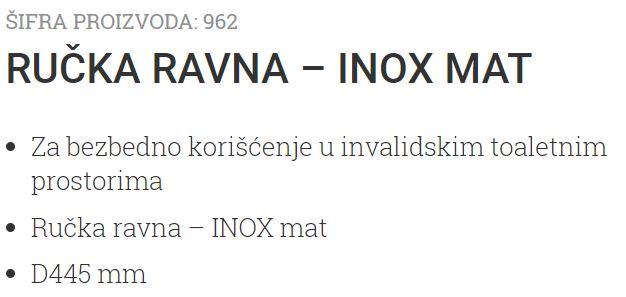 RUKOHVAT RAVNI INOX-MAT 445MM BR04