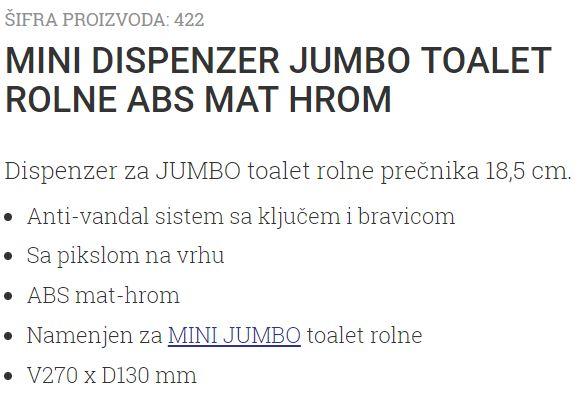 MINI DRZAC T.ROLNE MAT-HROM 422