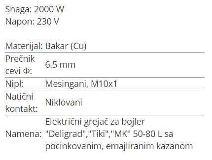 GREJAC BAKARNI 2KW