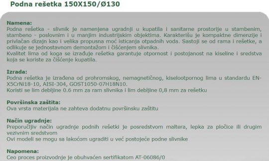 PODNA RESETKA 15X15 AK