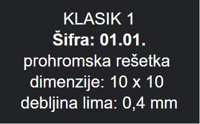 PODNA RESETKA 10X10 METALEKS