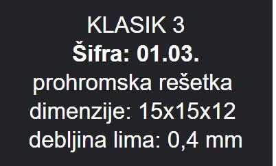 PODNA RESETKA 15X15 METALEKS