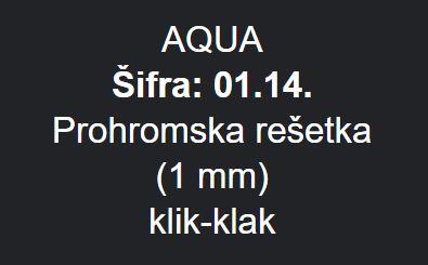 PODNA RESETKA 15X15 AQUA METALEKS