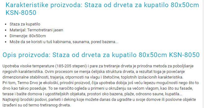 PODLOGA ZA KUPATILO JASEN 8050