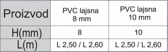 PVC LAJSNA BRAON 13 10MM
