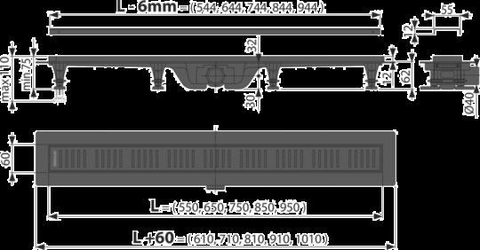 SLIVNIK ALCA-750MM APZ10 CRNI